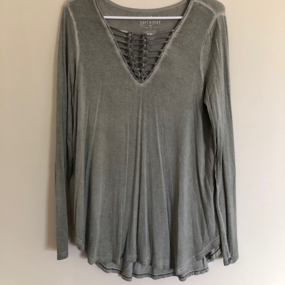 American Eagle Outfitters Tops - Army Green Long Sleeve